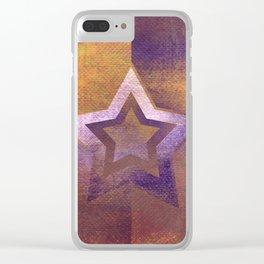 Suprematist Star II Clear iPhone Case
