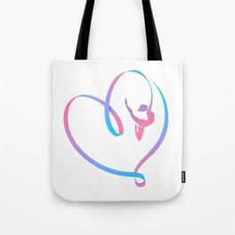 Rhythm of a Gymnast's Heart Tote Bag