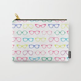 Retro Vintage Nerdy Glasses Pattern Carry-All Pouch