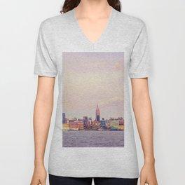 Perfect Day - New York City Skyline Unisex V-Neck