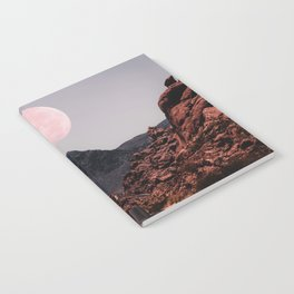 Road Red Moon Notebook