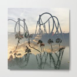 coasters + chill Metal Print