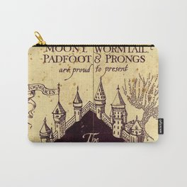 Map Harrypotter castle, The Marauders Map Carry-All Pouch