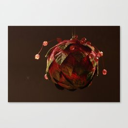 Red, Leafy and Playful Canvas Print