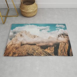 Mountains in Clouds.  Nature Landscape Photography Rug