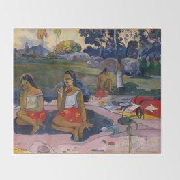 """Paul Gauguin """"Nave Nave Moe - Sacred Spring Sweet Dreams"""" Throw Blanket"""