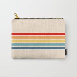 Takaakira - Classic Rainbow Retro Stripes Carry-All Pouch