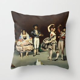 "Édouard Manet ""Spanish Ballet"" Throw Pillow"