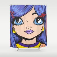 poodle Shower Curtains featuring poodle hair by turddemon