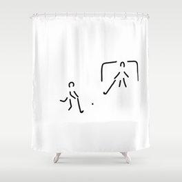 hockey field hockey rolling hockey player Shower Curtain