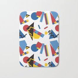 Postmodern Primary Color Party Decorations Bath Mat