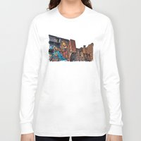 manchester Long Sleeve T-shirts featuring Colourful MANchester by inkedsandra