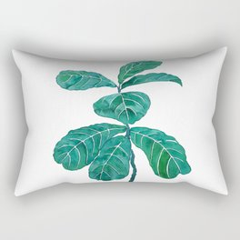 fiddle leaf fig watercolor Rectangular Pillow