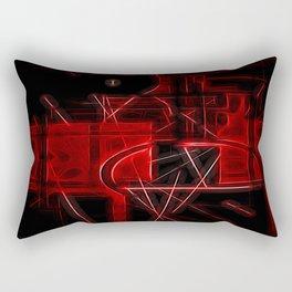 Red Maze Rectangular Pillow