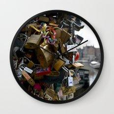 Lovers locks Wall Clock