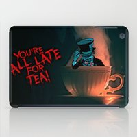 mad hatter iPad Cases featuring Evil Mad Hatter by Sberla