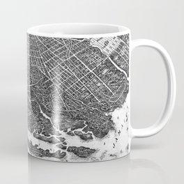 Vintage Map of Brooklyn NY (1908) BW Coffee Mug