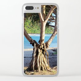 Looking through the Pandanus Clear iPhone Case