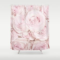 Roses have thorns- Floral Flower Pink Rose Flowers on #Society6 Shower Curtain