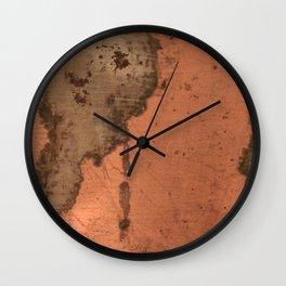 Tarnished Copper rustic decor Wall Clock