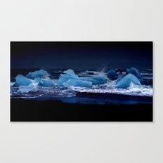 ice night. Canvas Print