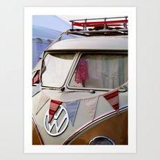 Summer Festival Split Screen VW Dub Art Print