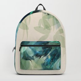 Beautiful Peacock Feathers Backpack