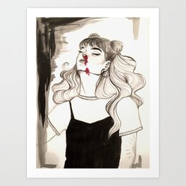 Blod Art Print