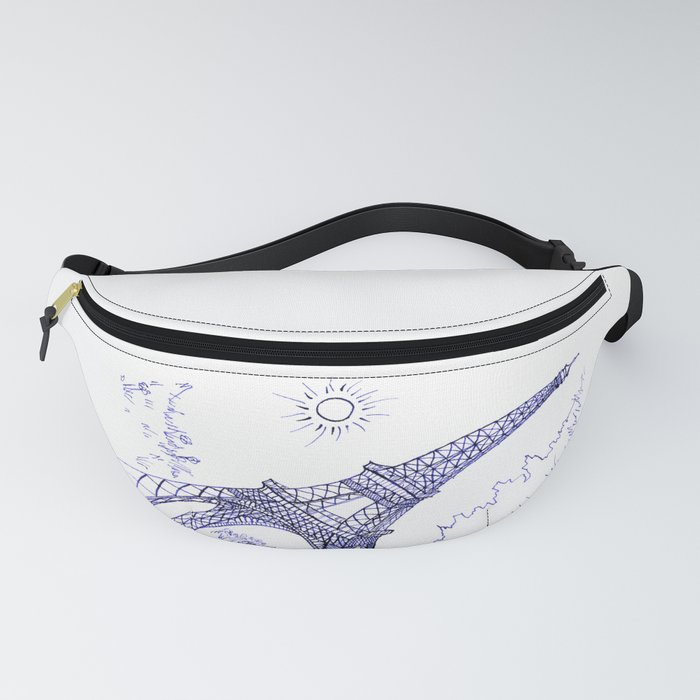 Eiffel Tower in Blue Fanny Pack