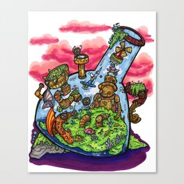 A Very Curious Waterpipe Canvas Print