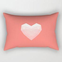 Modern Love - White on Pink Rectangular Pillow
