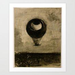 The Eye Balloon by Odilon Redon Art Print