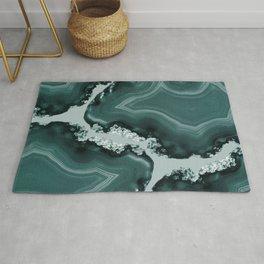 Teal Agate Pattern #1 #gem #decor #art #society6 Rug