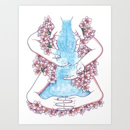 Like water through my hands Art Print