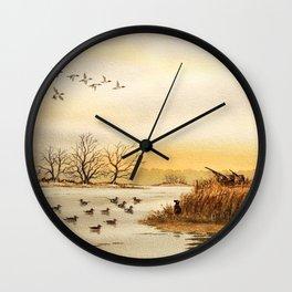 Hunting Pintail Ducks Wall Clock