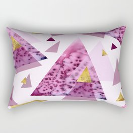 Bloom Abstract Geometry Rectangular Pillow