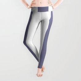 Rhythm grey - solid color - white vertical lines pattern Leggings