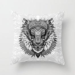 lion aztec art pattern Throw Pillow