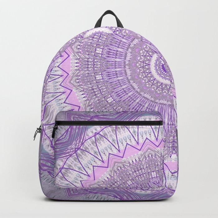 Lavender Purple Lace Mandala Backpack