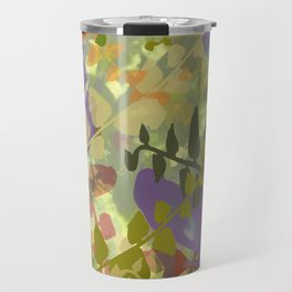 Green Butterfly Jungle Travel Mug