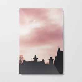 Eclipse over Oxford Metal Print