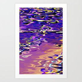 Re-Created Infinity Pool No. 7 by Robert S. Lee Art Print