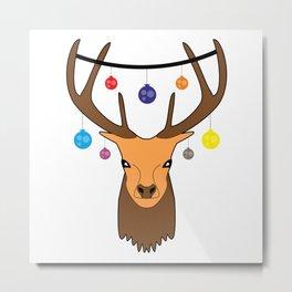 Merry christmas Reindeer #society6 #decor #buyart #artprint Metal Print