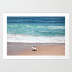Lonely Surfer Art Print