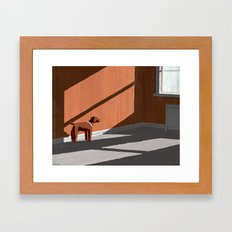 A Dog's Grace Framed Art Print