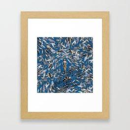 Mermaid in Monaco Framed Art Print