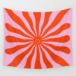 Retro Sun Vintage 70s  Wall Tapestry