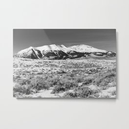 Winter in the Rockies - Mount Elbert on Snowy Winter Day in Colorado Metal Print