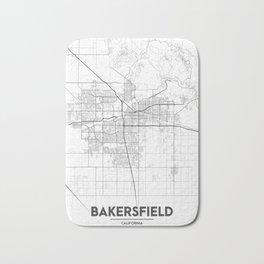 """Minimal City Maps - Map Of Bakersfield, California, United States Bath Mat"