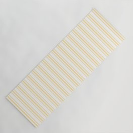 Trendy Large Buttercup Yellow Pastel Butter French Mattress Ticking Double Stripes Yoga Mat